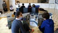 Alumnes que participen al taller de poesia de la Fundació Miquel Martí i Pol de Roda Ter