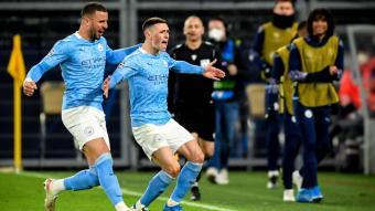 Foden celebrant un gol del City