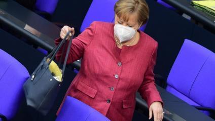 La cancellera alemanya, Angela Merkel, al Bundestag, el Parlament alemany, a Berlín