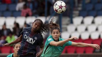 Vicky Losada en el precedent del 2017 contra el PSG