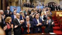 El ple del Parlament, el 27 d'octubre de 2017