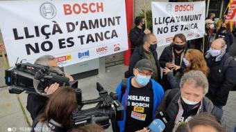 Imatge d'arxiu d'una de les protestes dels treballadors per impedir el tancament de la planta de Bosch a Lliçà d'Amunt