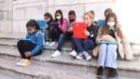Alumnes de l'escola Saavedra de Tarragona