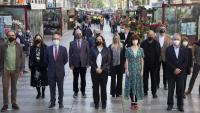 Colau i altres autoritats i representants a la Rambla