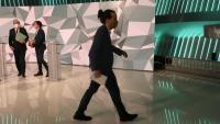 Pablo Iglesias marxa del debat electoral de dimecres a Telemadrid