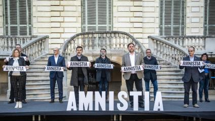 Els nou presos polítics el 2 de febrer passat