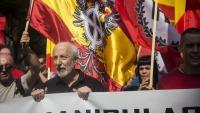 Manifestació d'Aliança Nacional a Barcelona