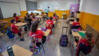 Una classe de l'Escola Taialà, a Girona