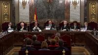 Els set magistrats del Tribunal Suprem que van jutjar els dotze independentistes catalans, a Madrid el 2019