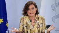 La vicepresidenta del govern espanyol, Carmen Calvo