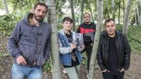 Borja Penalba, Mireia Vives, David Fernàndez i David Caño, fotografiats fa uns dies abans de ser entrevistats per El Punt Avui