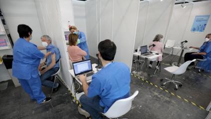 Vacunació massiva a Fira de Barcelona