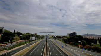 Una carretera gairebé buida al març de 2020