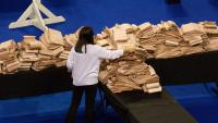 Recompte de vots de les parlamentàries escoceses, ahir a Glasgow