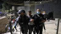 Policies israelians detenen manifestants palestins en una protesta contra els desnonaments a Jerusalem Est