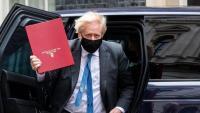 Boris Johnson, primer ministre britànic, tornant a Downing Street d'una sessió de control al Parlament