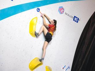 Aida Torres en el campionat d'Europa juvenil