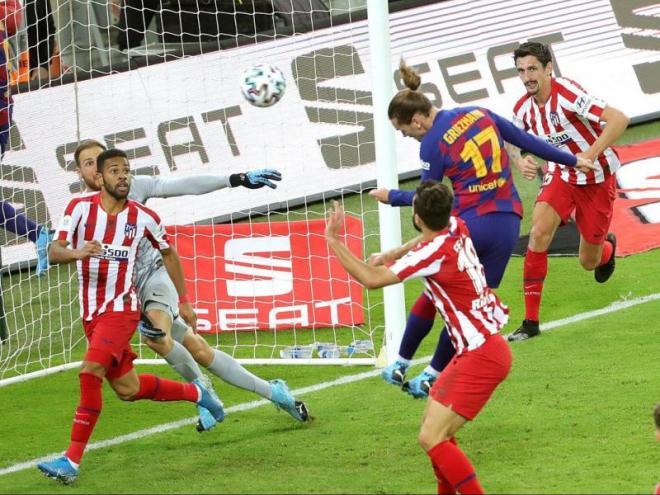 Griezmann només ha superat una vegada Jan Oblak. Va ser en el partit de la supercopa d'Espanya del 2020 (2-3) jugat a l'Aràbia Saudita