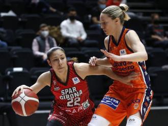 Laia Flores, en les semifinals contra el València.