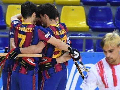 El Barça celebra un dels 12 gols