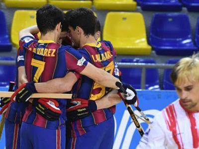 El Barça celebra un dels gols
