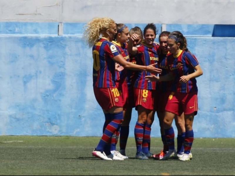 Celebració del gol de Bruna Vilamala