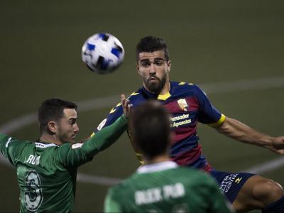 Sascha, autor del gol de la victòria, en un partit d'aquesta temporada