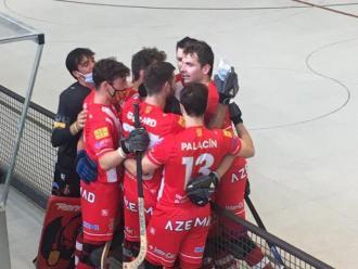 El Girona celebra el gol de Mendes a 4 minuts del final del primer temps