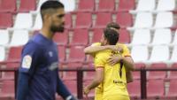 Santamaría va encaixar quatre gols, dos de Stuani