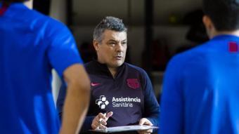 Xavi Pascual, en un entrenament