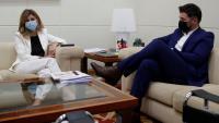 Yolanda Díaz i Gabriel Rufián, durant la reunió que van mantenir ahir al Ministeri de Treball