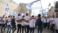 Israelians celebrant ahir la unificació sota poder jueu de tota la ciutat el 1967