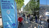 Punt de vacunació a la Fira de Barcelona