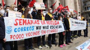 Protesta dels treballadors a Sabadell