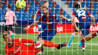 Ter Stegen ha rebut tres gols al camp del Llevant