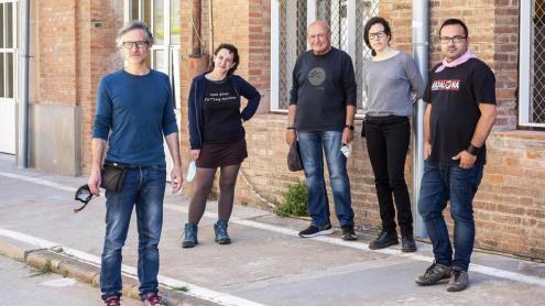 D'esquerra a dreta: Xavi Tarragón, Anna Martínez, Celes Sánchez, Noe Tudela i Rafa Segovia