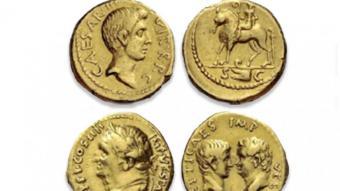 Les tres monedes recuperades per la Policia Nacional