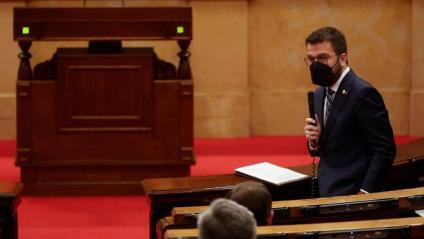 Pere Aragonès, vicepresident del Govern en funciona aquest dijous al Parlament