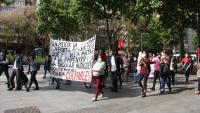 Manifestació convocada pel Sindicat de Barri del Poble Sec