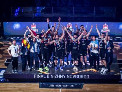 Els campions, celebrant el títol.