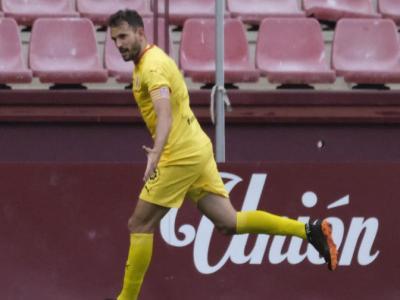 Stuani , celebrant el 0-3 a Las Gaunas