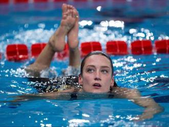 Mireia Belmonte , en el trofeu de Castelló, al desembre, on va aconseguir la mínima en 1.500 m