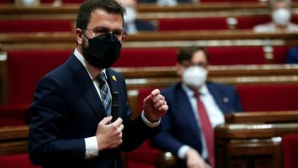 El vicepresident del govern en funcions, Pere Aragonès, aquest dijous al Parlament