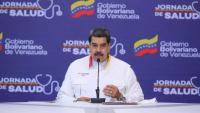 El president veneçolà, Nicolás Maduro, en un acte al Palau de Miraflores, a Caracas