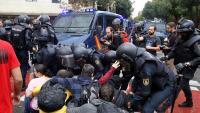 La policia espanyola, l'1-O a Barcelona