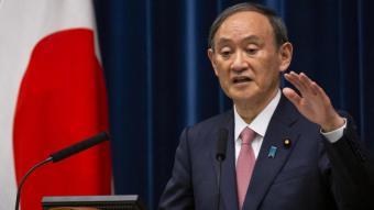 El primer ministre japonès en la roda de premsa