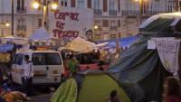 Joves acampats a la Puerta del Sol el maig del 2011