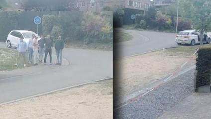 Imatge dels sis sospitosos del robatori extreta del vídeo gravat per les càmeres de seguretat