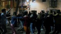 Gent ballant al centre de Barcelona