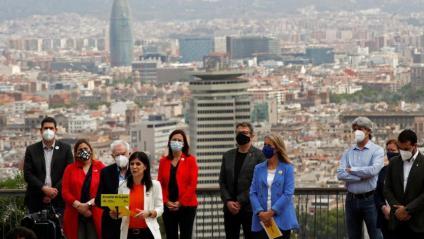 Marta Vilalta en l'acte amb càrrecs locals celebrat aquest dissabte